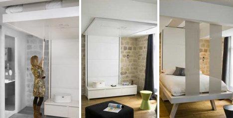 Letto Sospeso Muro : Letto bedup®: sollevabile e a scomparsa in legno massello