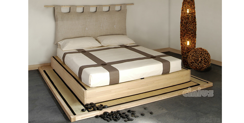letto yasumi di cinius la vera pedana in tatami giapponese. Black Bedroom Furniture Sets. Home Design Ideas