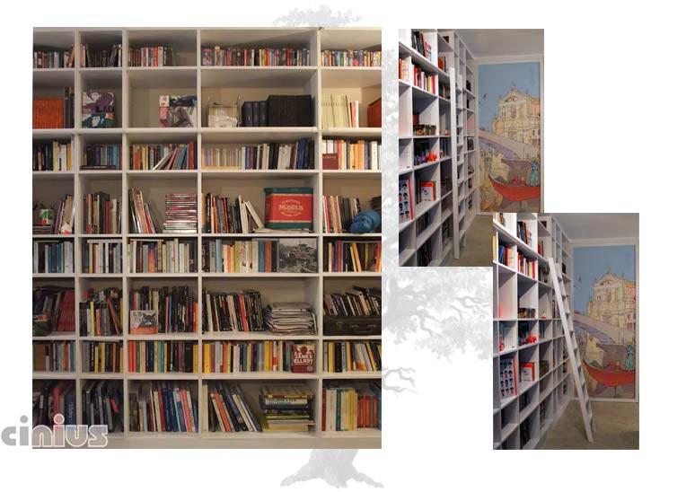 Cinius ::: Libreria, in legno massello, faggio massello lamellare ...