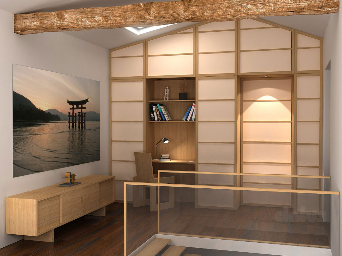 Armadio A Muro Scorrevole.Porte E Pareti Scorrevoli Shoji In Stile Giapponese Cinius