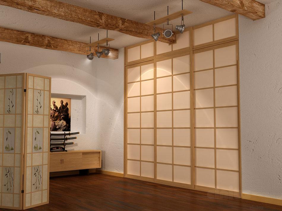 Porte e pareti scorrevoli shoji in stile giapponese cinius - Porte scorrevoli stile giapponese ...