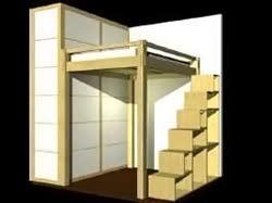 Cabina Armadio Con Letto Soppalco : Cinius ::: progetti disegni di mobili letti a soppalco cabine