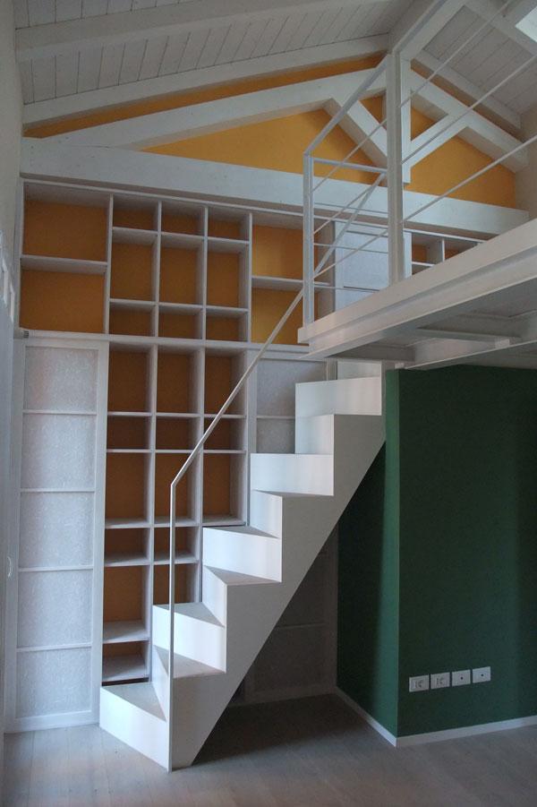 Librerie a soffitto libreria a colonna skatola sk scatole for Costo del soffitto a cassettoni