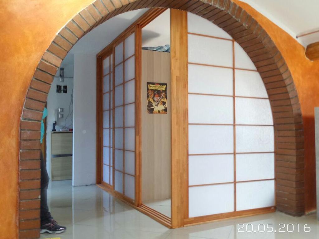 Parete Divisoria Con Porta Scorrevole porte e pareti scorrevoli shoji in stile giapponese | cinius