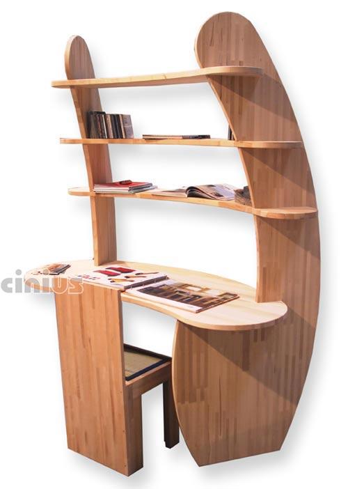 Scrivanie ufficio o cameretta in legno naturale cinius for Scrivania design outlet